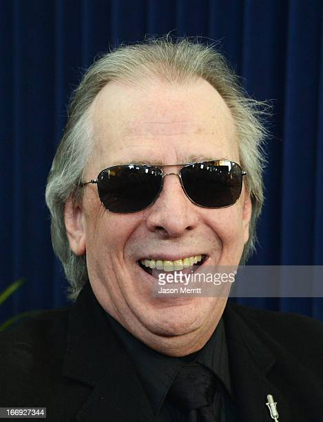 Jim Ladd arrives at the 28th Annual Rock and Roll Hall of Fame Induction Ceremony at Nokia Theatre LA Live on April 18 2013 in Los Angeles California