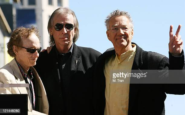 Jim Ladd KLOS DJ with Robby Krieger and Ray Manzarek of The Doors