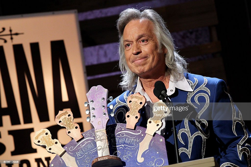 Jim Lauderdale accepts the Wagon Master Award onstage at the Americana Honors & Awards 2016 at Ryman Auditorium on September 21, 2016 in Nashville, Tennessee. at Ryman Auditorium on September 21, 2016 in Nashville, Tennessee.