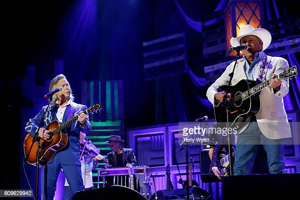 Jim Lauderdale and George Strait perform onstage at the Americana Honors Awards 2016 at Ryman Auditorium on September 21 2016 in Nashville Tennessee...
