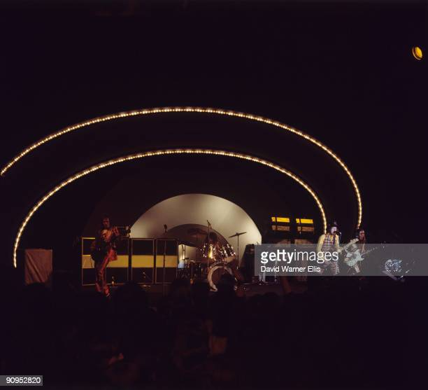 Jim Lea Don Powell Noddy Holder and Dave Hill of Slade perform on stage at the Pop Gala held in De Vliegermolen Netherlands on March 10 1973