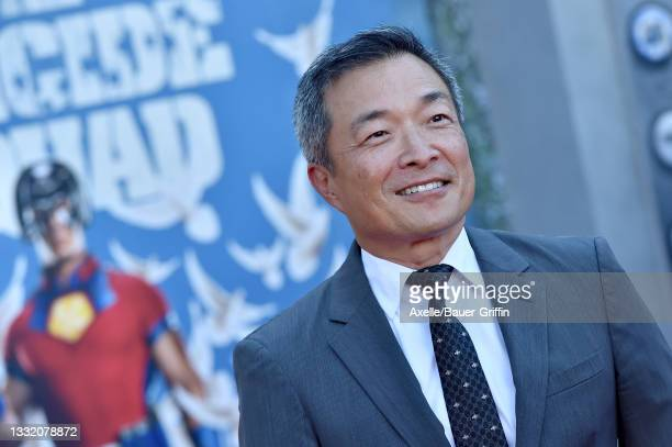 """Jim Lee attends Warner Bros. Premiere of """"The Suicide Squad"""" at The Landmark Westwood on August 02, 2021 in Los Angeles, California."""