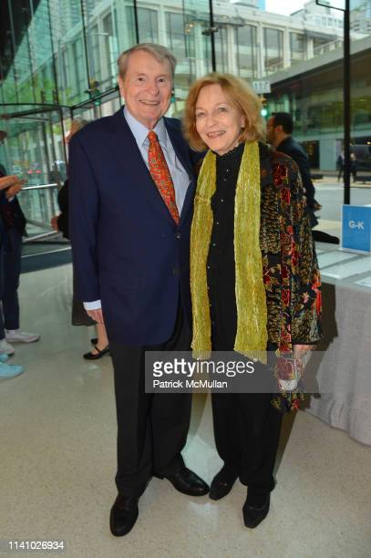Jim Lehrer and Kate Lehrer attend Juilliard Spring 2019 Gala at Peter Jay Sharp Theater on May 1 2019 in New York