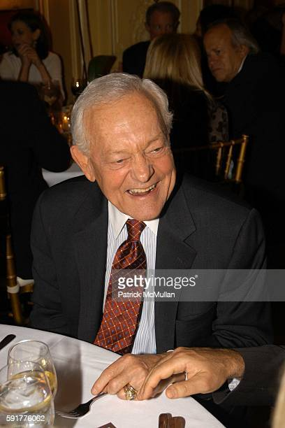 Jim Lehrer attends A Celebration of Mike Wallace's New Book 'Between You and Me' at Arabelle on October 25 2005 in New York City