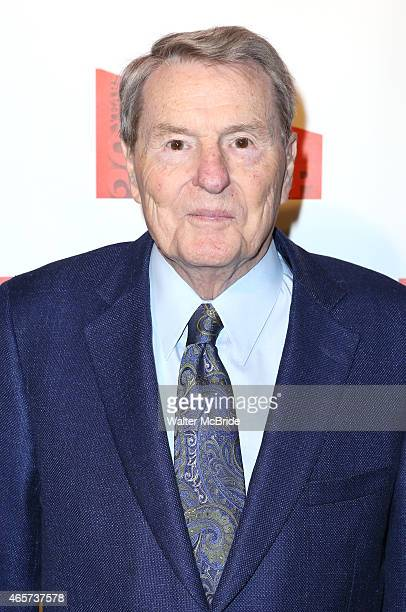 Jim Lehrer attends the New Group celebrates Scott Elliott and the Company's 20th Anniversary at the Tribeca Rooftop on March 9 2015 in New York City