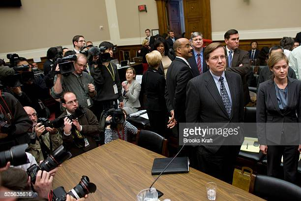 Jim Lentz Toyota's topranking US executive as President and COO of Toyota Motor Sales USA waits to testify before the US House Energy and Commerce...