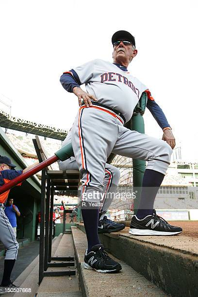 Jim Leyland manager of the Detroit Tigers prior to the start of the game against the Texas Rangers at Rangers Ballpark in Arlington on August 11 2012...