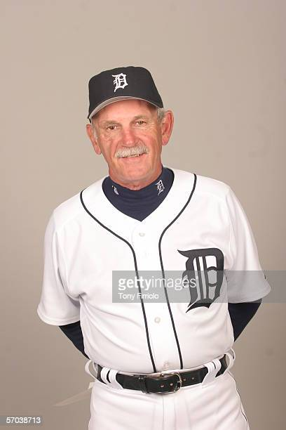 Jim Leyland of the Detroit Tigers during photo day at Marchant Stadium on February 26 2006 in Lakeland Florida