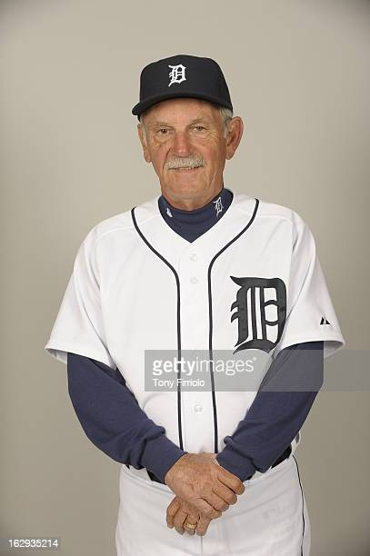 Jim Leyland of the Detroit Tigers poses during Photo Day on February 19 2013 at Joker Marchant Stadium in Lakeland Florida