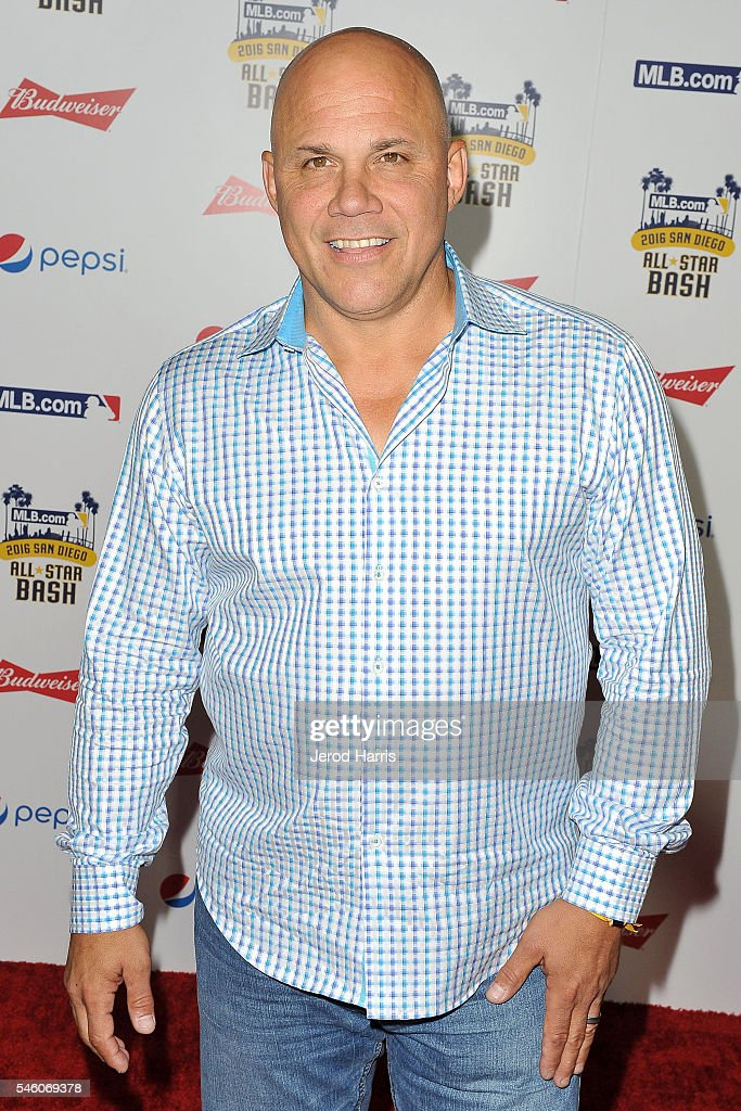 Jim Leyritz arrives at the MLB.com All Star Bash at the San Diego Convention Center's Sails Pavillion on July 10, 2016 in San Diego, California.