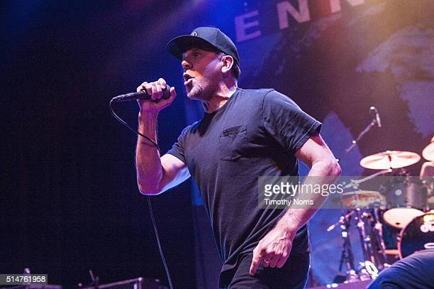 Jim Lindberg of Pennywise performs at Hollywood Palladium on March 10 2016 in Los Angeles California