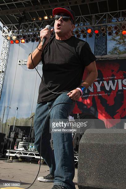 Jim Lindberg of Pennywise performs on stage on Day 2 of Riot Fest and Carnival 2013 at Humboldt Park on September 14 2013 in Chicago Illinois