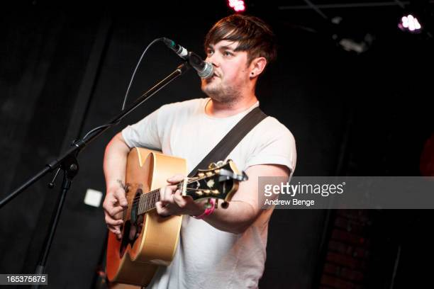 Jim Lockey of Jim Lockey and The Solemn Sun performs on stage at Brudenell Social Club on April 3 2013 in Leeds England