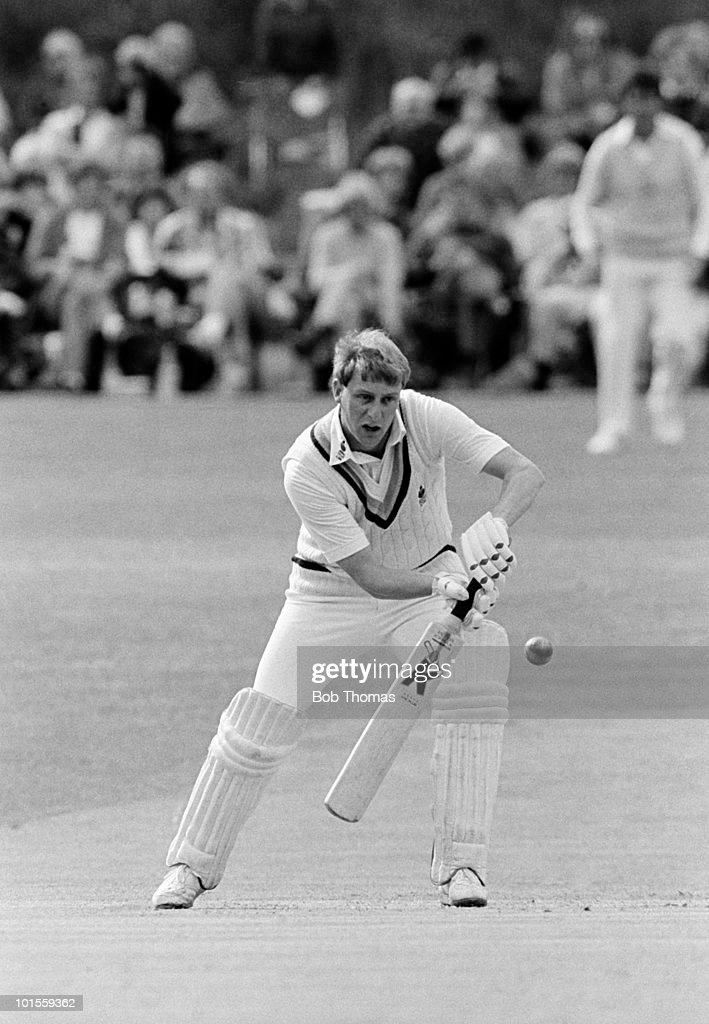 Jim Love batting for Yorkshire against Essex during a John Player League cricket match held in Sheffield on 25th May 1986. Yorkshire won by 2 wickets. (Bob Thomas/Getty Images).