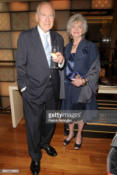 Jim Lovell and Marilyn Lovell attend BUZZ ALDRIN Magnificent Desolation Book Signing at LOUIS VUITTON MAISON FIFTH AVENUE at Louis Vuitton on July 13...