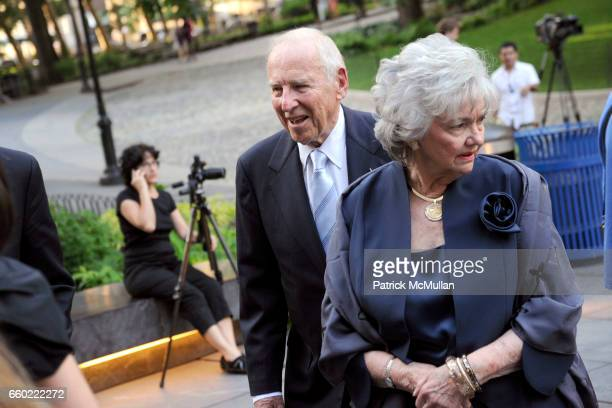 Jim Lovell and Marilyn Lovell attend LOUIS VUITTON 40th Anniversary of the Lunar Landing Tribute Event at Rose Center for Earth and Space on July 13...