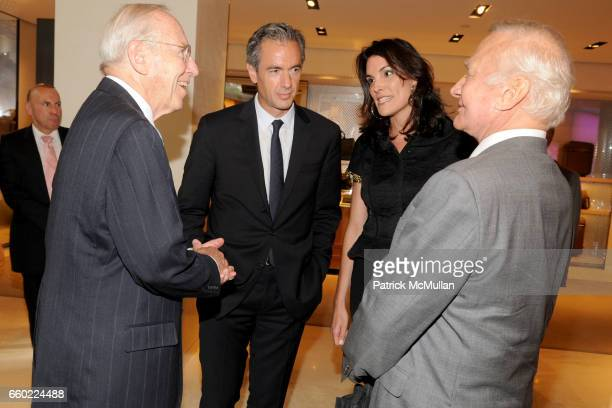Jim Lovell Daniel Lalonde Amy Erbesfeld and Buzz Aldrin attend BUZZ ALDRIN 'Magnificent Desolation' Book Signing at LOUIS VUITTON MAISON FIFTH AVENUE...