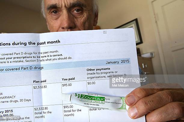 Jim Makichuk holds up his medical statement from Kaiser showing that Kaiser paid out a total of $253280 and he paid his copay amount of $95 for a 5...
