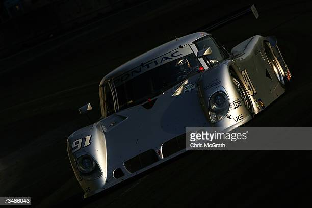 Jim Matthews and Marc Goossens drive the Riley Matthews Pontiac Riley during the GrandAm Rolex Sports Car Series race on March 3 2007 at the...