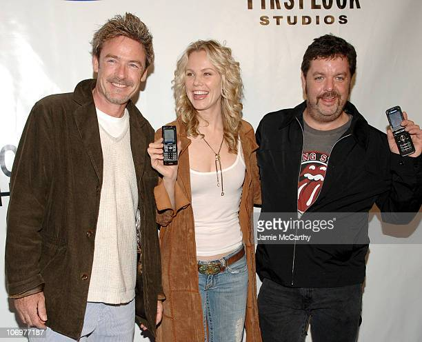 Jim McCaffrey Andrea Roth and John Scurti during Samsung and First Look Studios Presents 'Across The Hall' Premiere Screening and Party at Samsung...