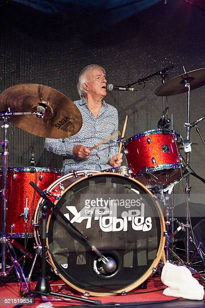 Jim McCarty of The Yardbirds performing at Under The Bridge on April 15 2016 in London England