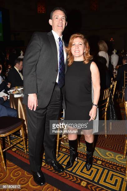 Jim McEvoy and Debra Millman attend the 2018 Beit Ruth Gala at Gotham Hall on April 26 2018 in New York City
