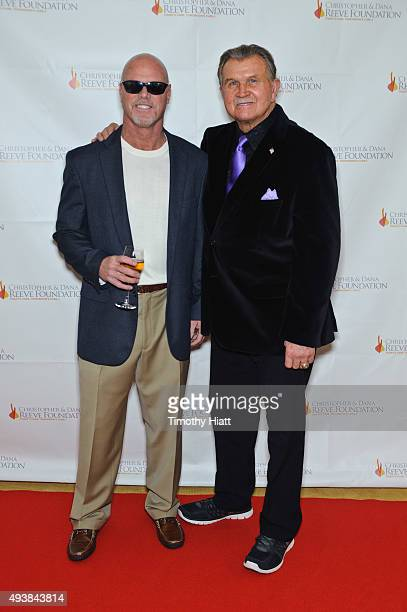 Jim McMahon and Mike Ditka attend The Christopher Dana Reeve Foundation's 'A Magical Evening Chicago' at Peninsula Hotel on October 22 2015 in...
