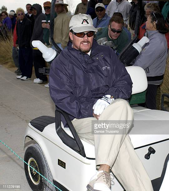 Jim McMahon during Las Vegas Celebrity Classic Golf Tournament at Silverstone Golf Course in Las Vegas Nevada United States