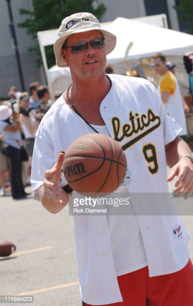 Jim McMahon Former QB Chicago Bears during CMA Music Festival Steve Azar and Friends Sports Challenge at Sports Zone in Nashville Tennessee United...