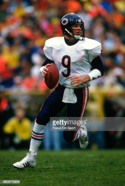 Jim McMahon of the Chicago Bears rolls out to pass during an NFL Football game circa 1985 McMahon played for the Bears from 198288