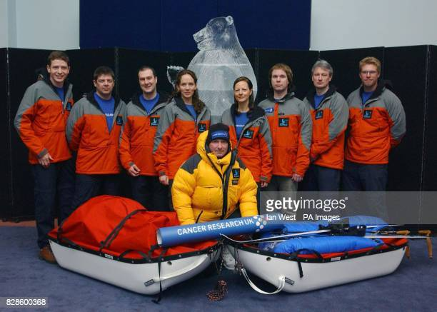Jim McNeill dressed in full polar suit with members of his team Andy McLaughlin Mark Wood Gary Quinn Julia Stacey Fizzy Lillington Matthew Edwards...