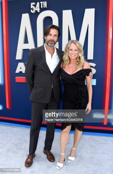 Jim McPhail and Deana Carter attend the 54th Academy Of Country Music Awards at MGM Grand Hotel Casino on April 07 2019 in Las Vegas Nevada