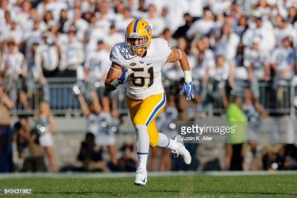 Jim Medure of the Pittsburgh Panthers in action against the Penn State Nittany Lions at Beaver Stadium on September 9 2017 in State College...