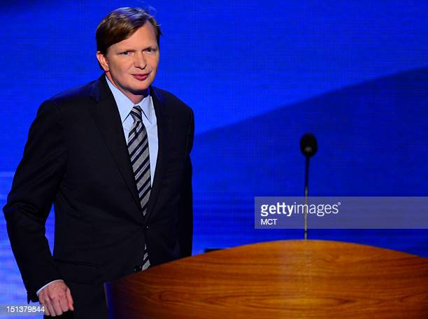 Jim Messina campaign manager for Obama for America speaks at the 2012 Democratic National Convention in Times Warner Cable Arena Thursday September 6...
