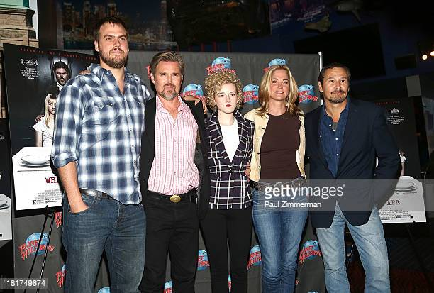 Jim Mickle Bill Sage Julia Garner Kassie DePaiva and Nick Damici attend We Are What We Are at Planet Hollywood Times Square on September 24 2013 in...