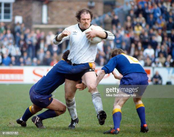 Jim Mills carrying the ball for Widnes during the rugby league John Player trophy final between Warrington and Widnes at Knowsley Road in St Helens...