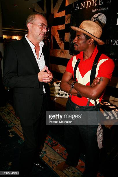 Jim Moore and Andre 3000 attend BARNEYS NEW YORK Launches ANDRE BENJAMIN's New Menswear Collection BENJAMIN BIXBY Hosted by CHARLIZE THERON and...