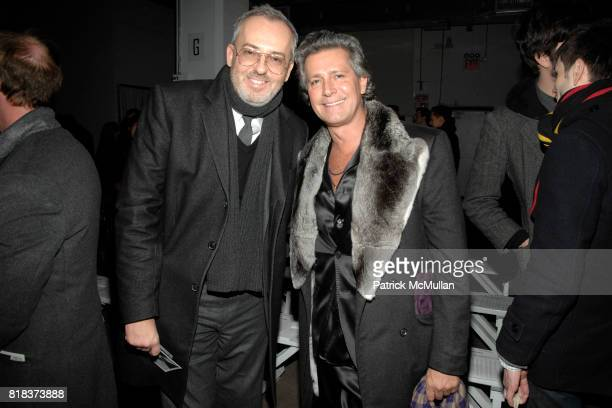 Jim Moore and Carlos Souza attend MICHAEL BASTIAN Fall 2010 Collection at Exit Art on February 14 2010 in New York City