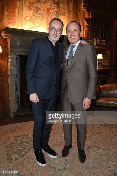 Jim Moore and Gildo Zegna attend GQ Party for Jim Moore during Milan Menswear Fashion Week Spring/Summer 2016 at Casa Degli Atellani on June 20, 2015...