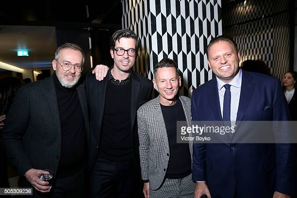 Jim Moore Will Welch Jim Nelson and Howard Mittman attend GQ's Celebration of GQ Style EditorInChief Will Welch during Milan Men's Fashion Week...