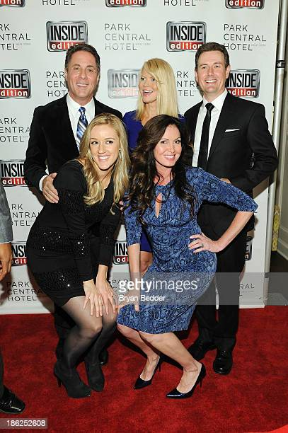 Jim Moret Lisa Guerrero Diane McInerney Megan Alexander and Paul Boyd attend a celebration of 25 Years of Inside Edition at Park Central New York on...