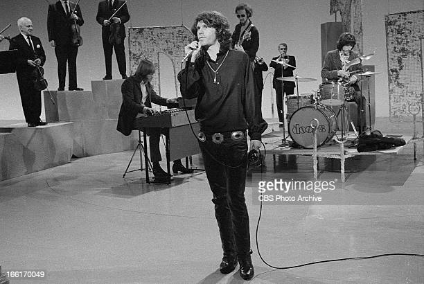 Jim Morrison and The Doors on THE SMOTHERS BROTHERS COMEDY HOUR Image dated January 6 1969