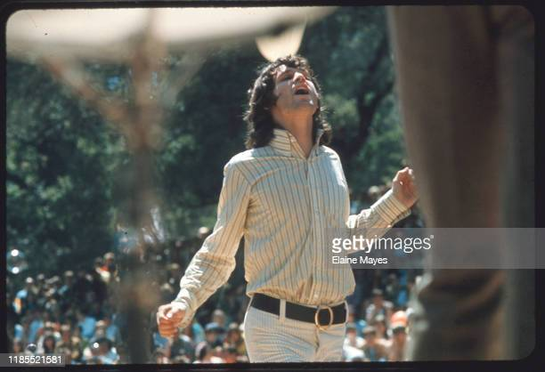 Jim Morrison dances during the Doors' set at Fantasy Fair in Marin County, California, during the Summer of Love, 1967;