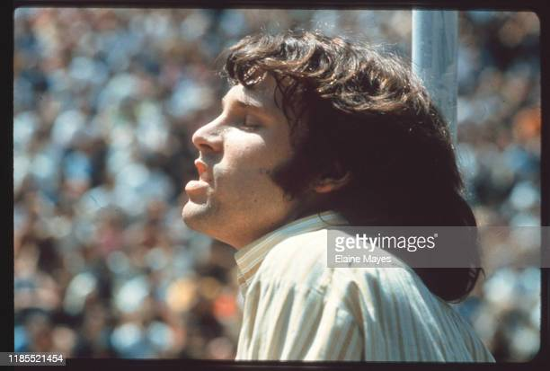 Jim Morrison performs with the Doors at Fantasy Fair in Marin County, California, during the Summer of Love, 1967;