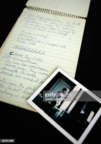 Jim Morrison's last note book is displayed at the Idea Generation Gallery on July 24 2008 in London England The note book along with the legendary...