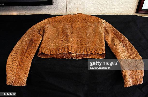 Jim Morrison's worn Snakeskin Jacket at Gotta Have It store on April 24 2013 in New York City
