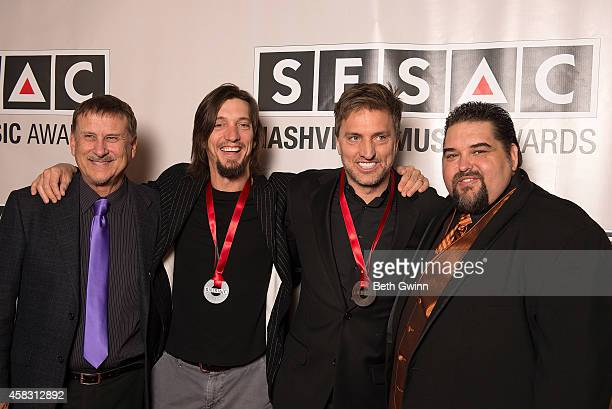 Jim Mullins Brett Warren Brad Warren and Tim Fink attend the 2014 SESAC Nashville Awards at the Country Music Hall of Fame and Museum on November 2...