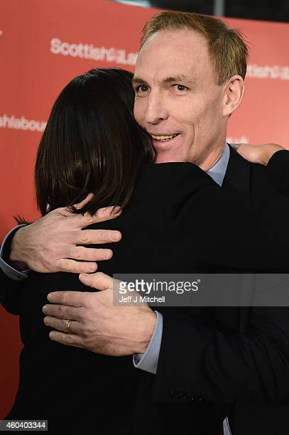 Jim Murphy hugs Kezia Dugdale after being announced as the new leader of the Scottish Labour Party on December 13 2014 in Glasgow Scotland The former...