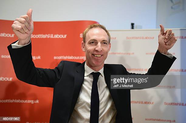 Jim Murphy MP acknowledges applause following his first major speech since his election as the new Scottish Labour leader on December 15 2014 in...