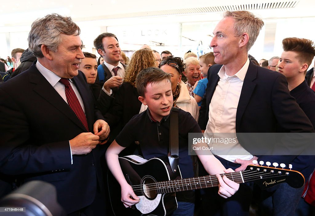 Jim Murphy And Gordon Brown Campaign Together